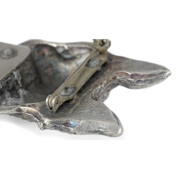 Boston Terrier - clip (silver plate) - 249 - 26225