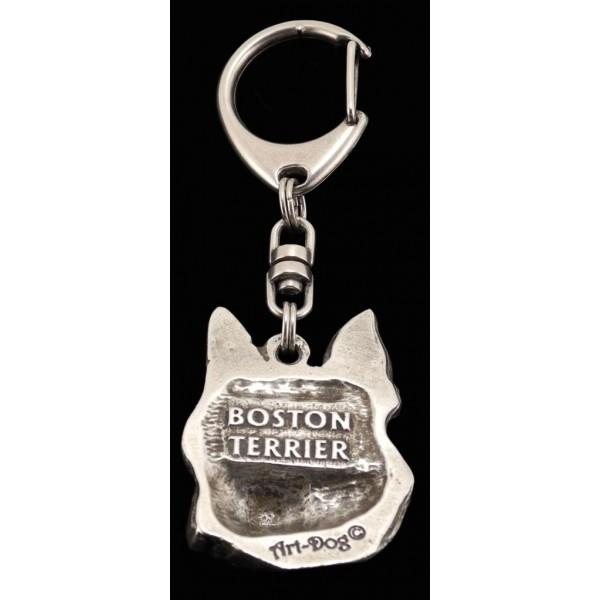 Boston Terrier - keyring (silver plate) - 54 - 329