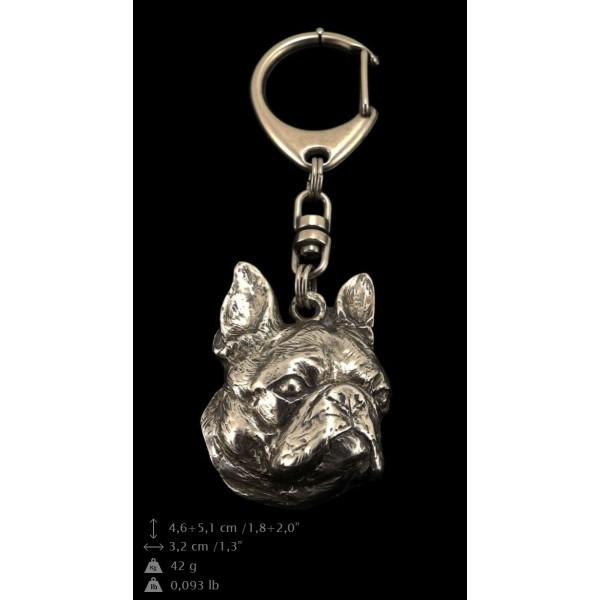 Boston Terrier - keyring (silver plate) - 54 - 9296