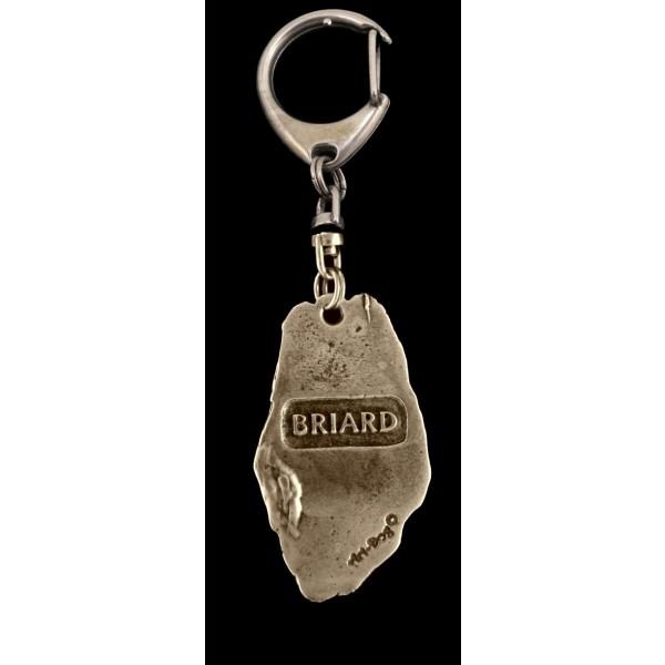 Briard - keyring (silver plate) - 84 - 9348