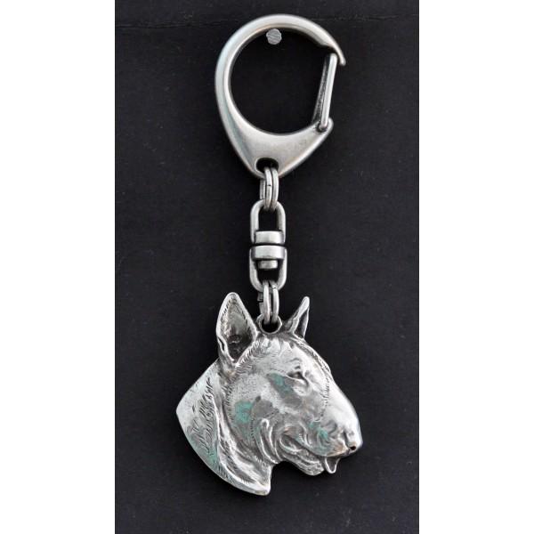 Bull Terrier - keyring (silver plate) - 107 - 576