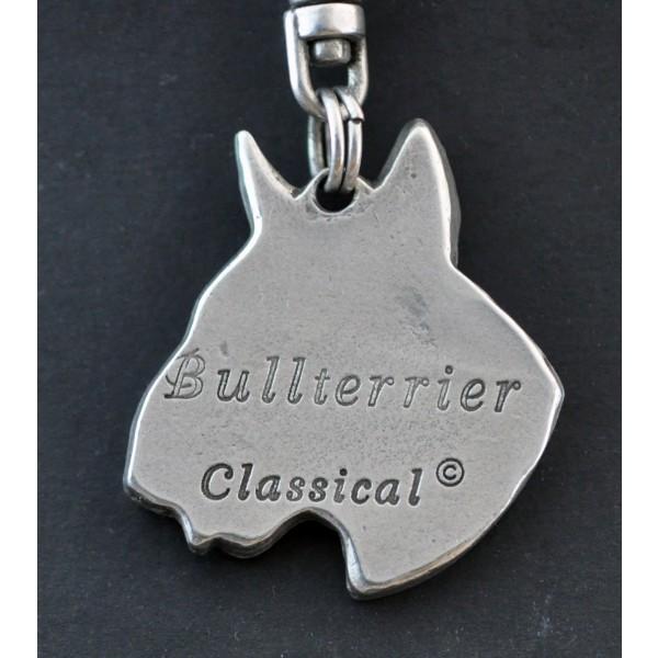 Bull Terrier - keyring (silver plate) - 107 - 578