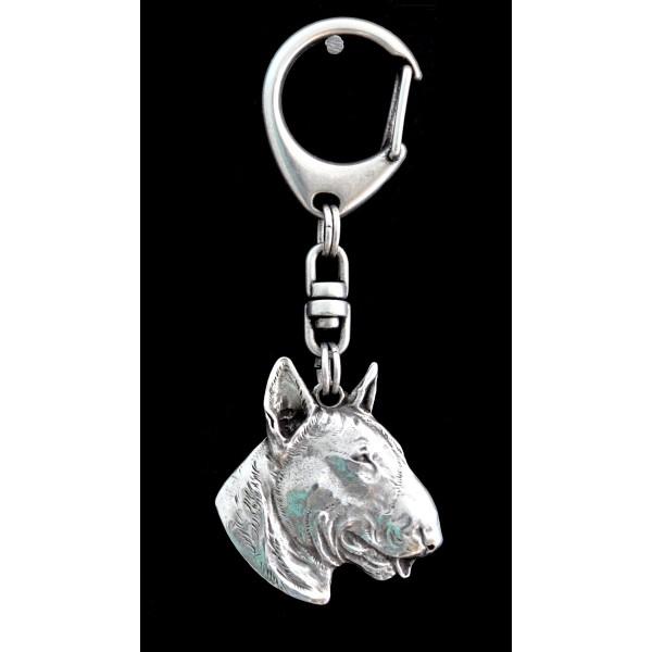 Bull Terrier - keyring (silver plate) - 107 - 9379