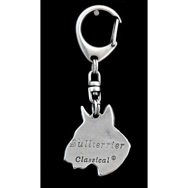 Bull Terrier - keyring (silver plate) - 107 - 9380