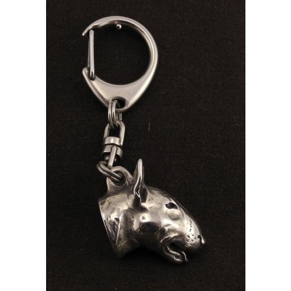 Bull Terrier - keyring (silver plate) - 12 - 109