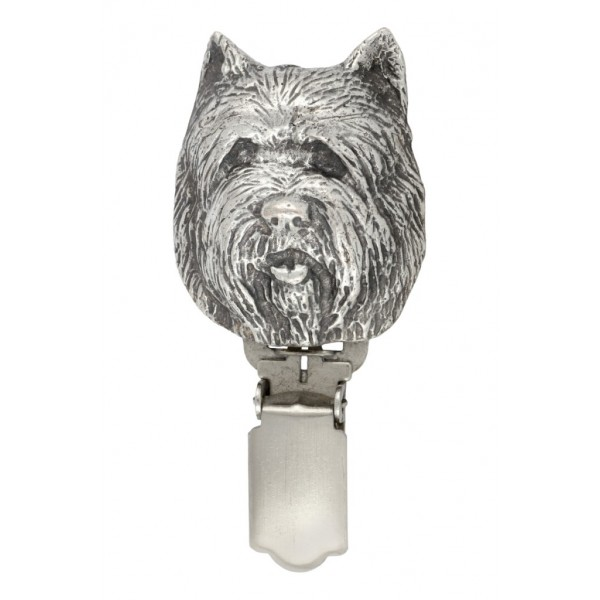Cairn Terrier - clip (silver plate) - 272 - 26313