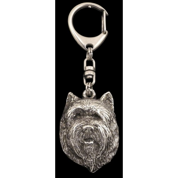 Cairn Terrier - keyring (silver plate) - 118 - 610