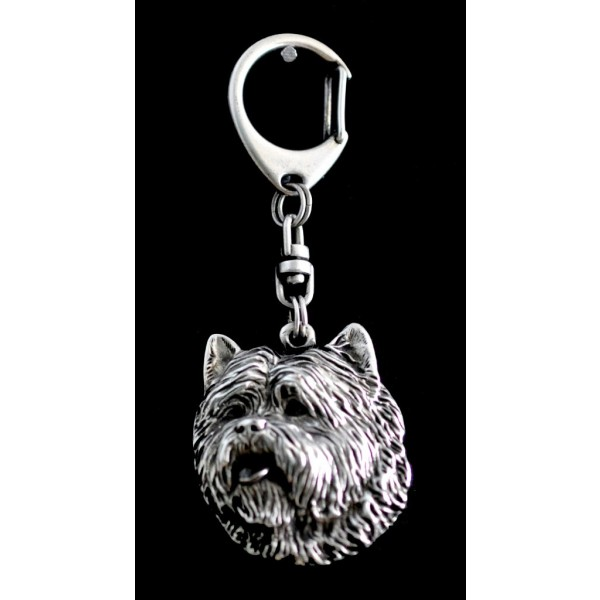 Cairn Terrier - keyring (silver plate) - 75 - 9334