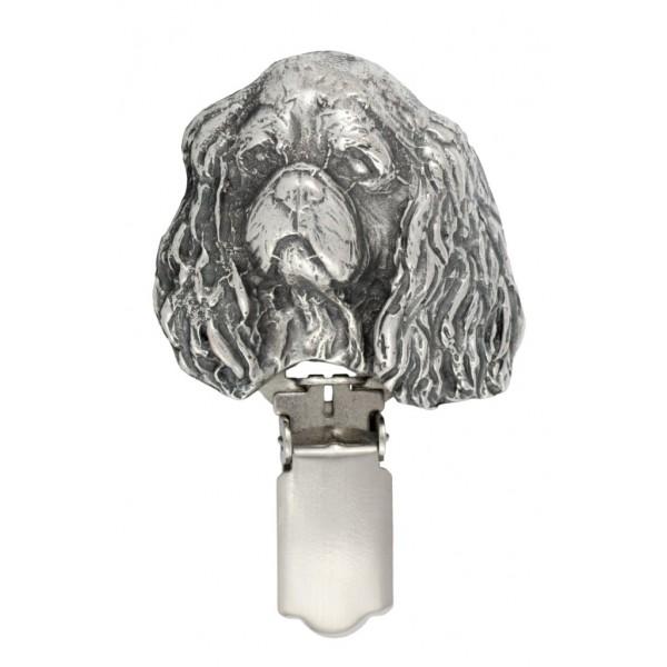 Cavalier King Charles Spaniel - clip (silver plate) - 262 - 26281