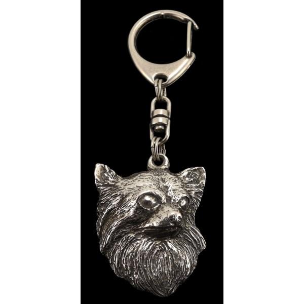 Chihuahua - keyring (silver plate) - 114 - 598