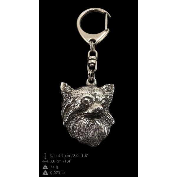 Chihuahua - keyring (silver plate) - 114 - 9388