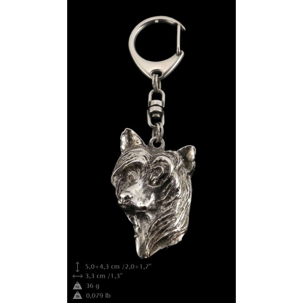 Chinese Crested - keyring (silver plate) - 51 - 9291