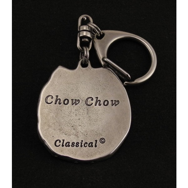 Chow Chow - keyring (silver plate) - 24 - 167