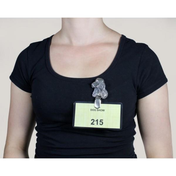 Clumber Spaniel - clip (silver plate) - 290 - 8632