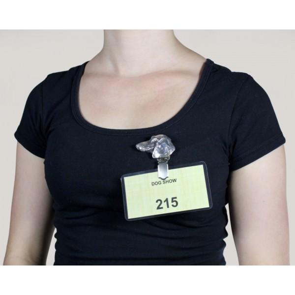 Dachshund - clip (silver plate) - 281 - 8625