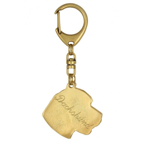Dachshund - keyring (gold plating) - 844 - 25193