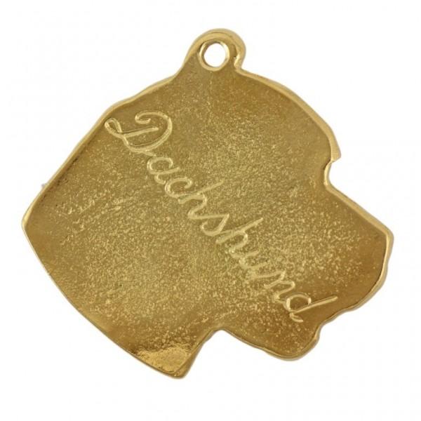 Dachshund - keyring (gold plating) - 844 - 25195