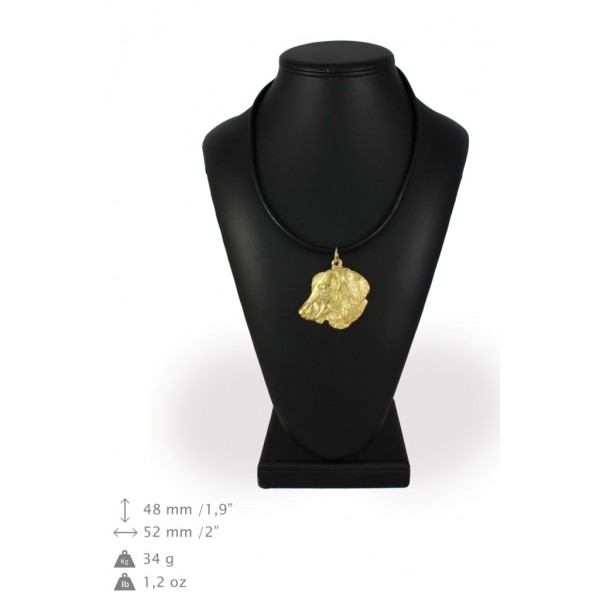 Dachshund - necklace (gold plating) - 994 - 31351