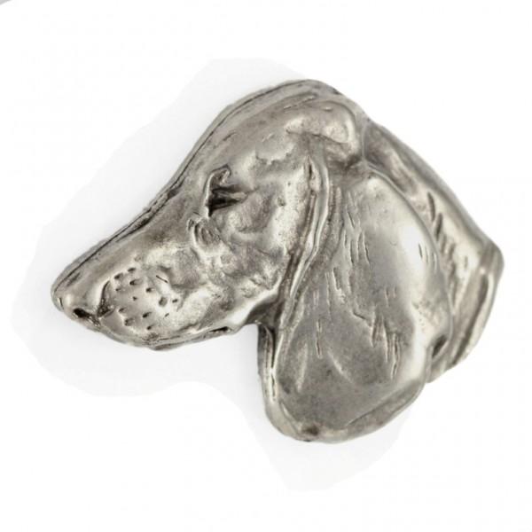 Dachshund - pin (silver plate) - 448 - 25883