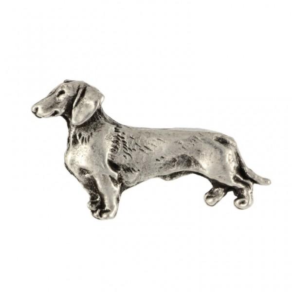 Dachshund - pin (silver plate) - 456 - 25929