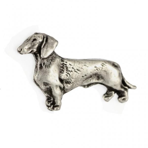 Dachshund - pin (silver plate) - 456 - 25930