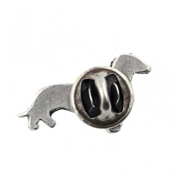 Dachshund - pin (silver plate) - 456 - 25932