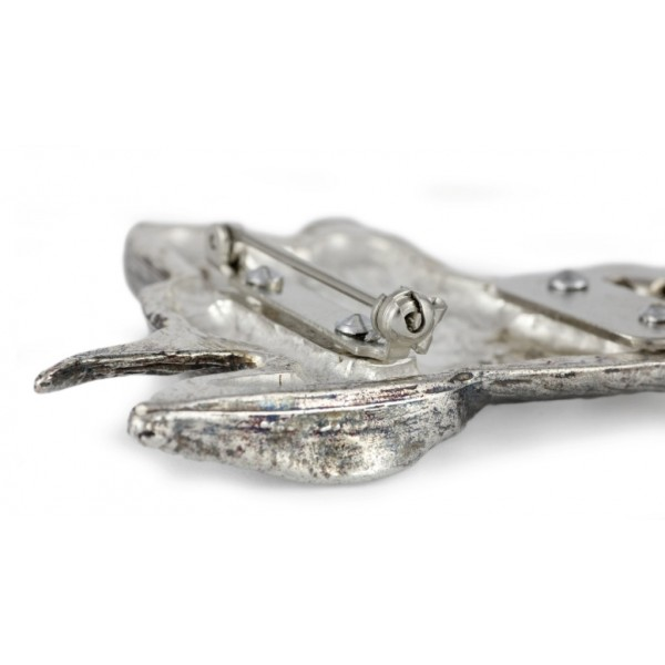 Doberman pincher - clip (silver plate) - 253 - 26252