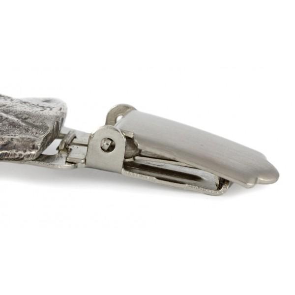 Doberman pincher - clip (silver plate) - 253 - 26255