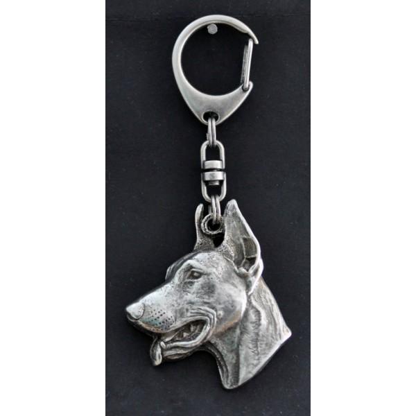 Doberman pincher - keyring (silver plate) - 48 - 288