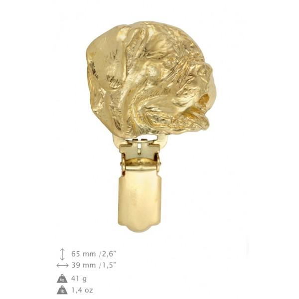 Dog de Bordeaux - clip (gold plating) - 1027 - 26676