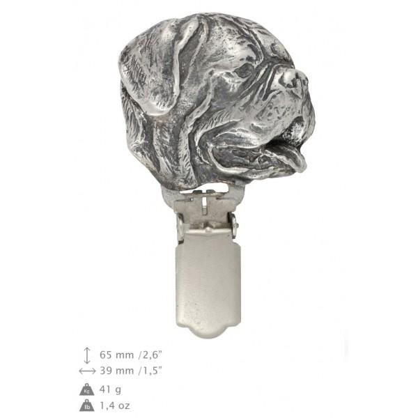 Dog de Bordeaux - clip (silver plate) - 270 - 26304