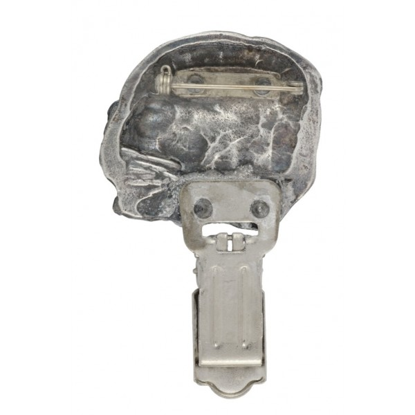 Dog de Bordeaux - clip (silver plate) - 270 - 26305