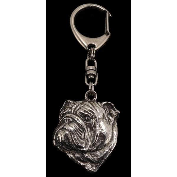 English Bulldog - keyring (silver plate) - 36 - 232