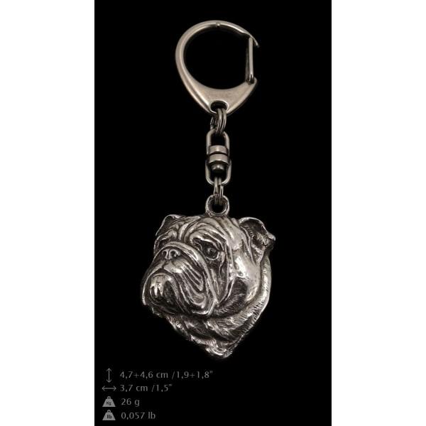English Bulldog - keyring (silver plate) - 36 - 9252