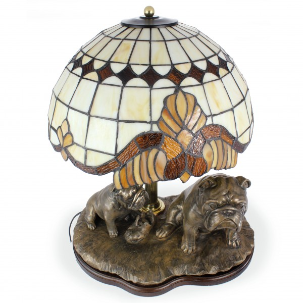 English Bulldog - lamp (bronze) - 659 - 7618