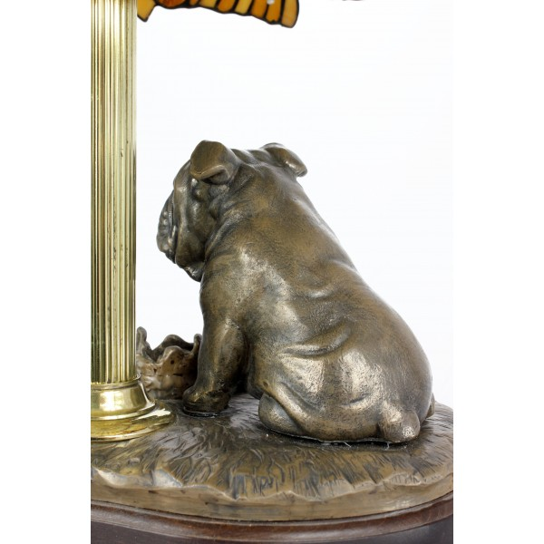 English Bulldog - lamp (bronze) - 659 - 7627