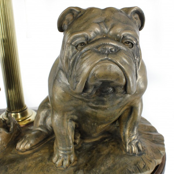 English Bulldog - lamp (bronze) - 659 - 7619