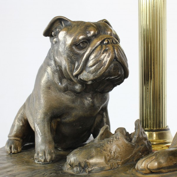 English Bulldog - lamp (bronze) - 659 - 7620