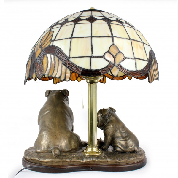English Bulldog - lamp (bronze) - 659 - 7626