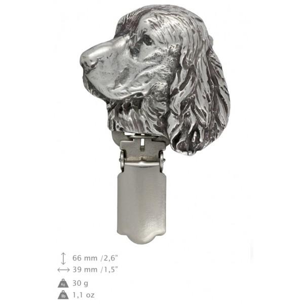 English Springer Spaniel - clip (silver plate) - 292 - 26384