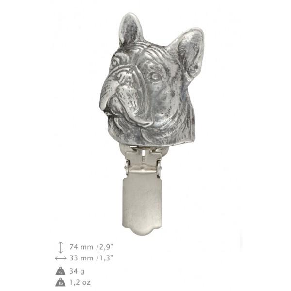 French Bulldog - clip (silver plate) - 252 - 26240