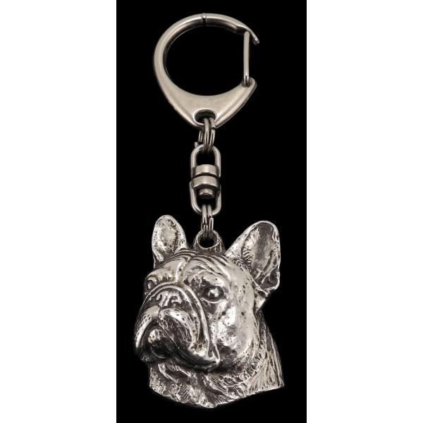 French Bulldog - keyring (silver plate) - 81 - 461