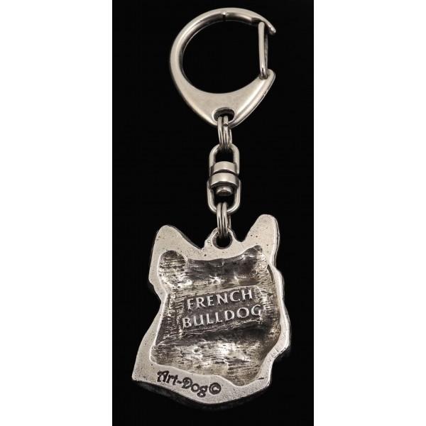 French Bulldog - keyring (silver plate) - 81 - 462