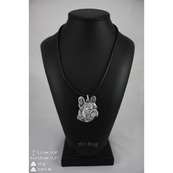 French Bulldog - necklace (strap) - 341 - 9004