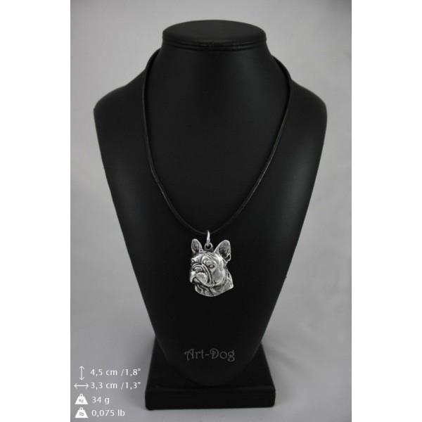 French Bulldog - necklace (strap) - 396 - 9025