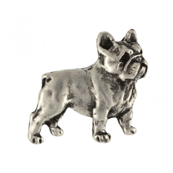 French Bulldog - pin (silver plate) - 466 - 25971