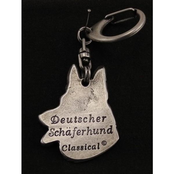 German Shepherd - keyring (silver plate) - 29 - 9240