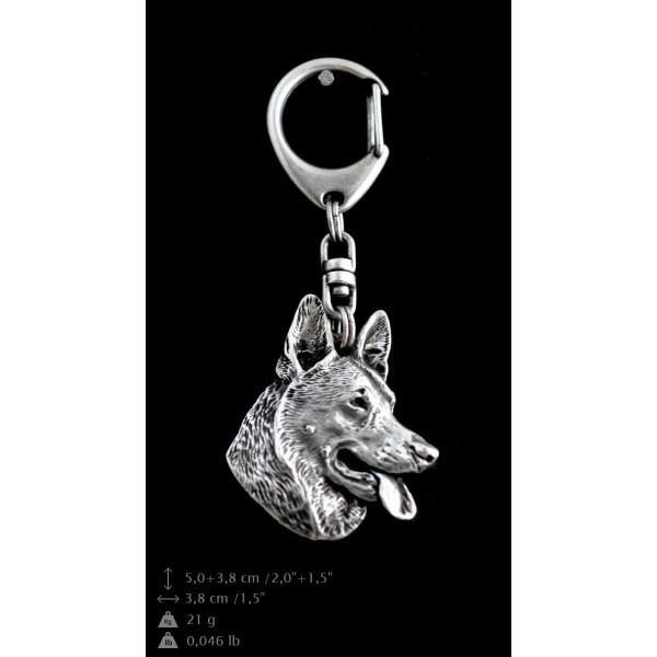 German Shepherd - keyring (silver plate) - 29 - 9241