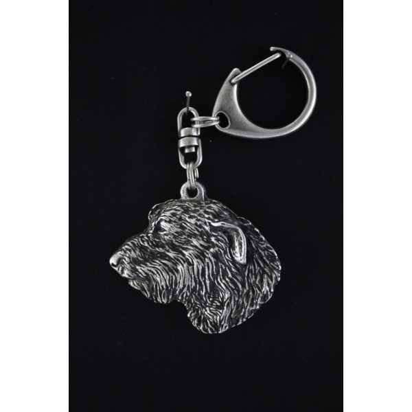 Irish Wolfhound - keyring (silver plate) - 86 - 482
