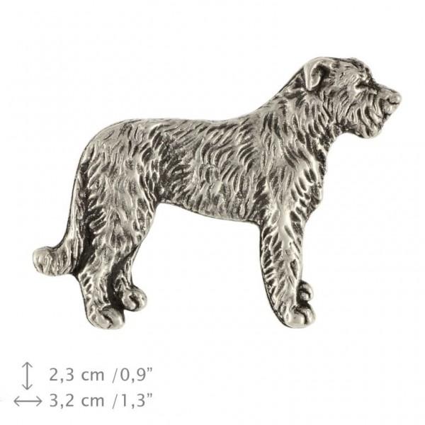 Irish Wolfhound - pin (silver plate) - 453 - 25912